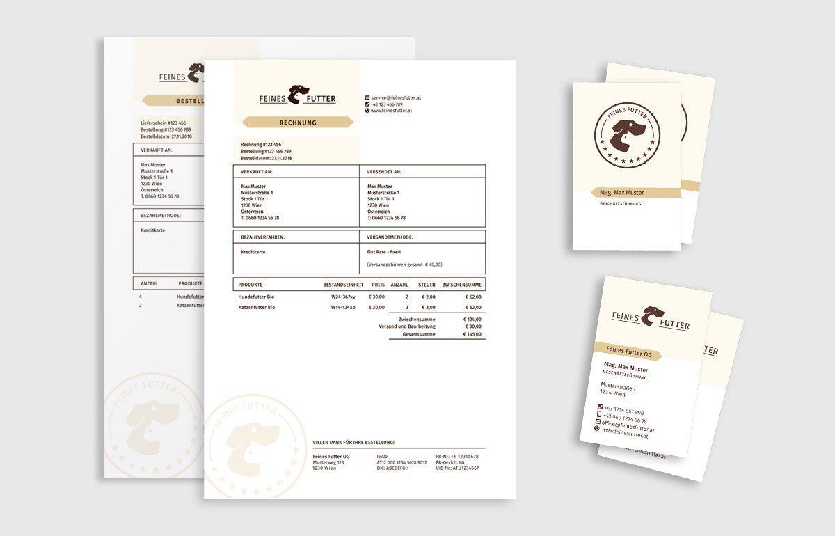 Corporate Design - Drucksorten für FEINES FUTTER