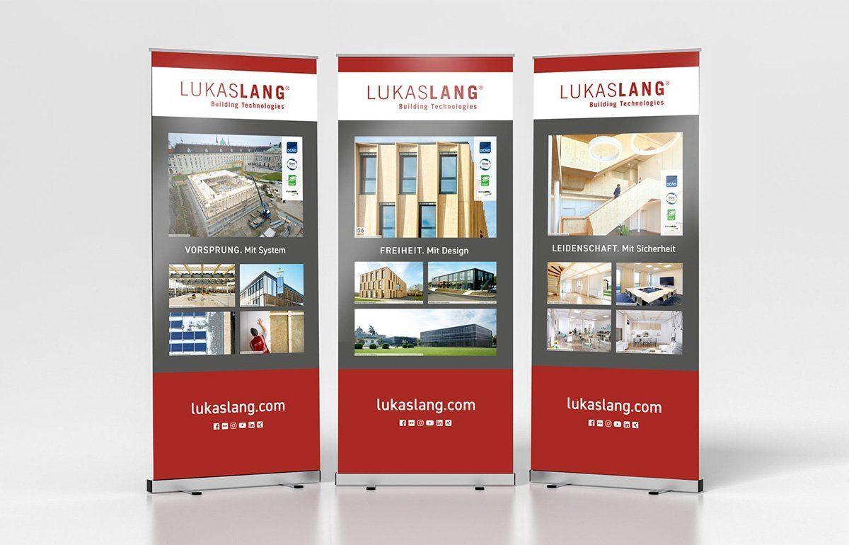 Roll-up-Displays für LUKAS LANG
