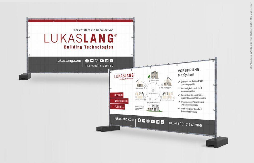 Banner für Baustellenzaun - LUKAS LANG