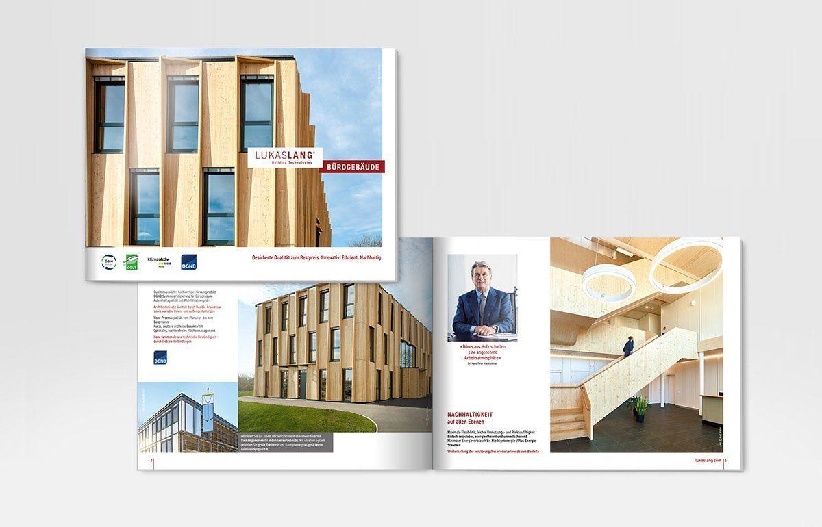 Marketingmaterial - Broschüre für LUKAS LANG