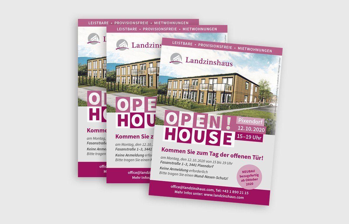 Flyer für Landzinshaus