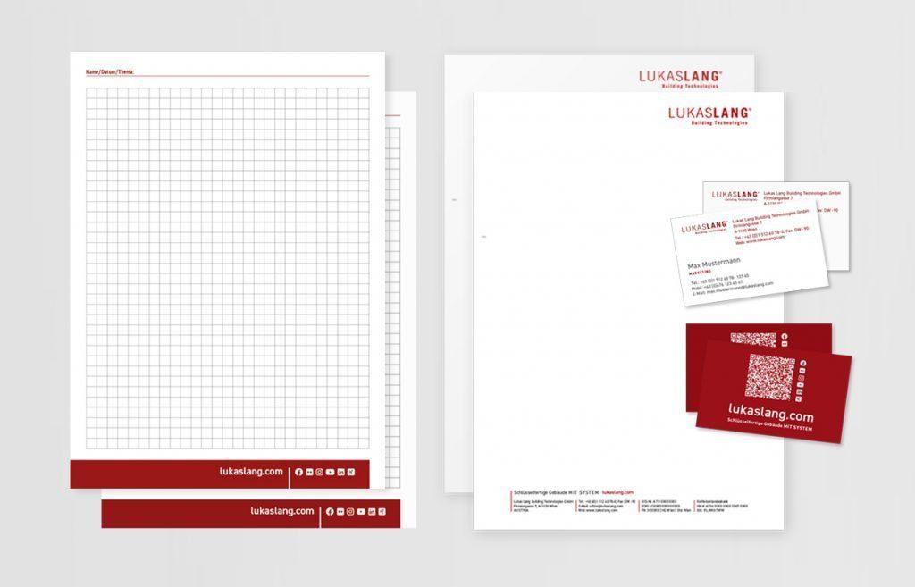 Corporate Design/Drucksorten für LUKAS LANG