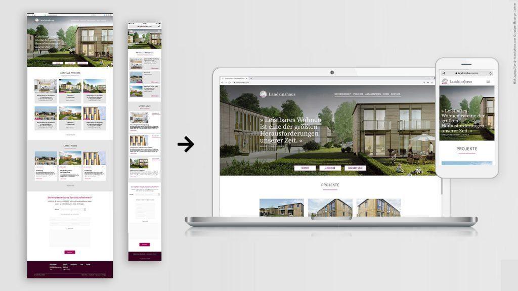 Landzinshaus Screendesign - Website