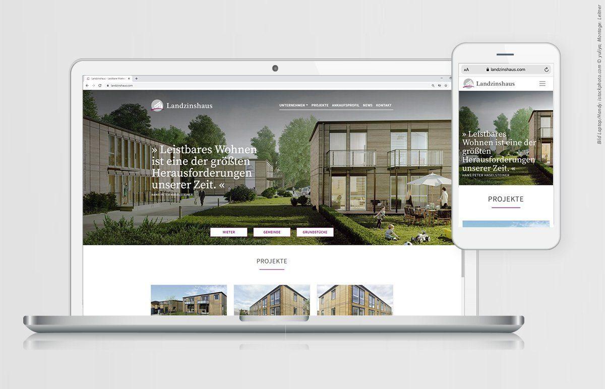 Screendesign - Website - Landzinshaus