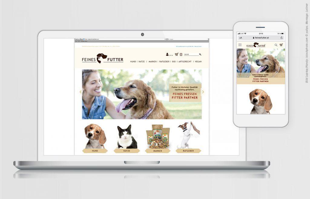 Screendesign - Website für FEINES FUTTER