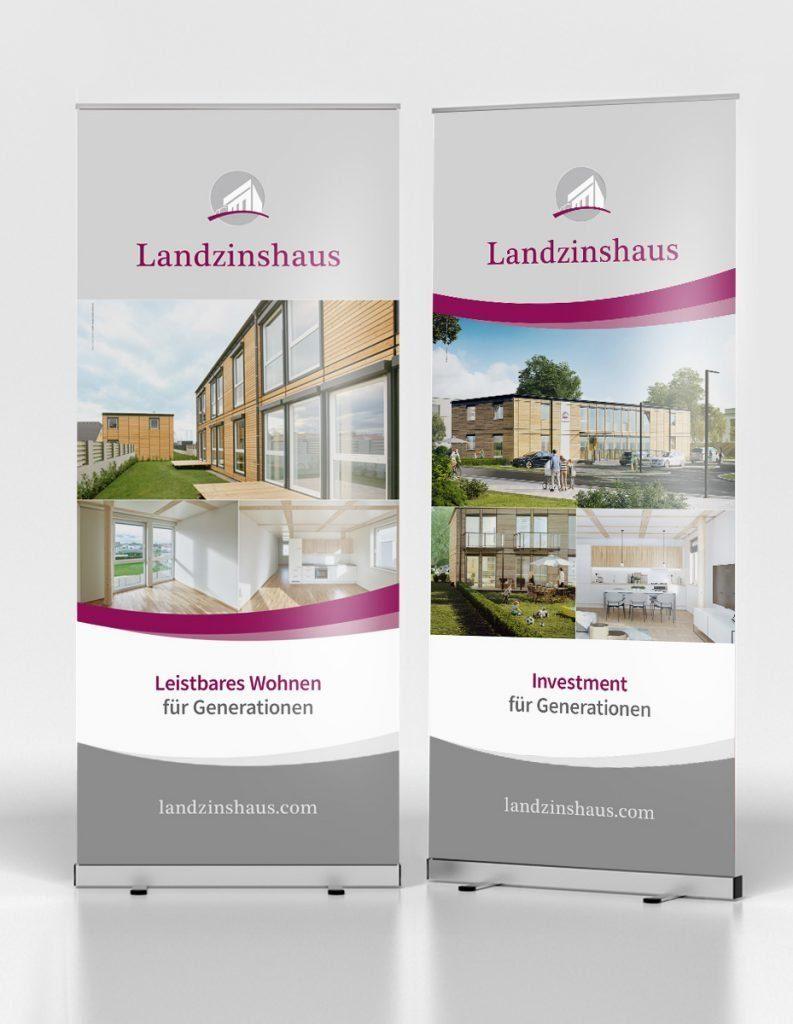 Roll-up-Displays für Landzinshaus