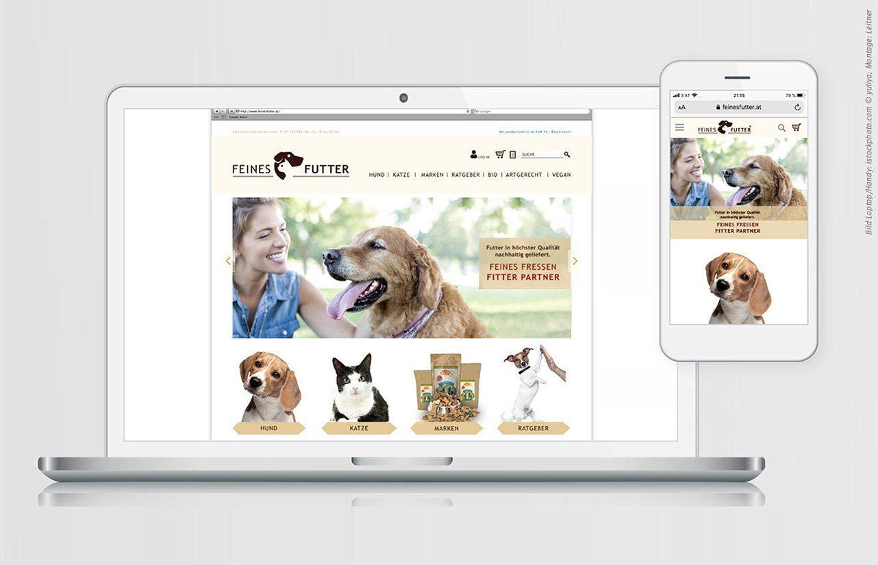 Screendesign für FEINES FUTTER (2019-2020)